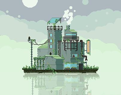 Beer factory - pixel art