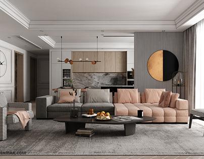 3D Interior Scene File 3dsmax Model Livingroom 337