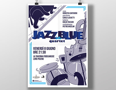 Jazz in Blue- Posters