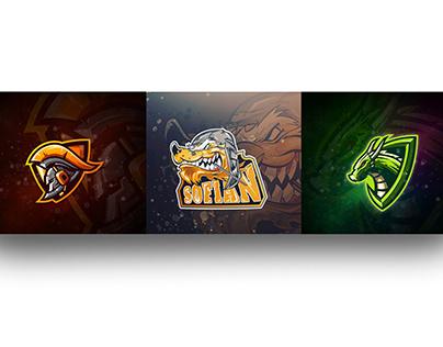 design esport logo for game, sports, team, carto