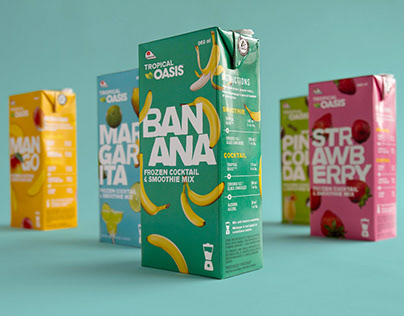 Tropical Oasis packaging