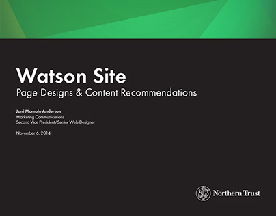 Northern Trust FGR Site - UX, UI, Web Design