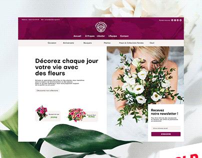 'Petit Bourgeon' - Maquette de site internet Fleuriste