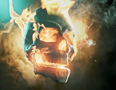 Ghost Rider CG Scull