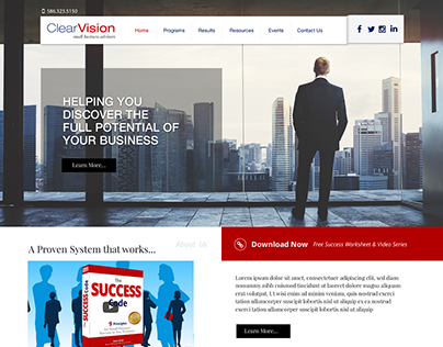 Clearvision Consulting Redesign 2016