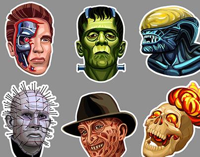 Horror sticker set