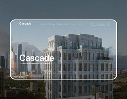 Cascade Club House — real estate website concept