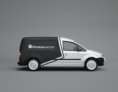 Free Minivan Mockup