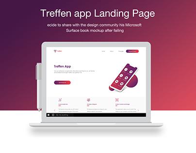 Landing Page - Website - Treffen app