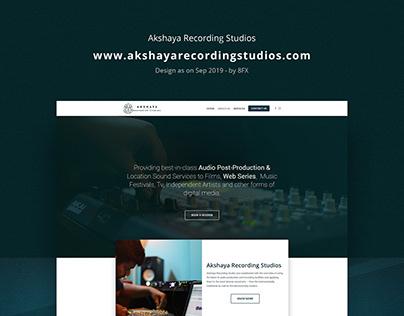 AkshayaRecordingStudios - Website Design