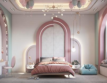 girl bedroom Memphis-style (Apamia) Dubai