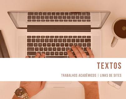 Textos - Trabalhos Acadêmicos