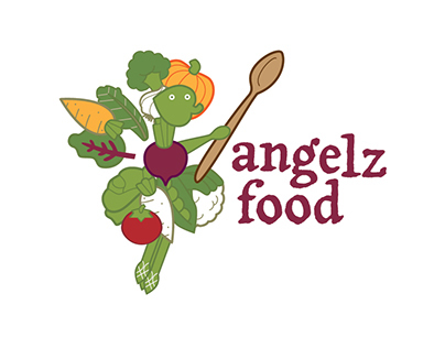 angelz food logo and icon design