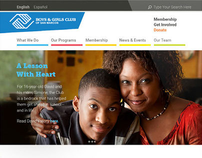 Boys and Girls Club Website Redesign