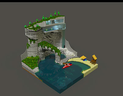 Voxel coast house