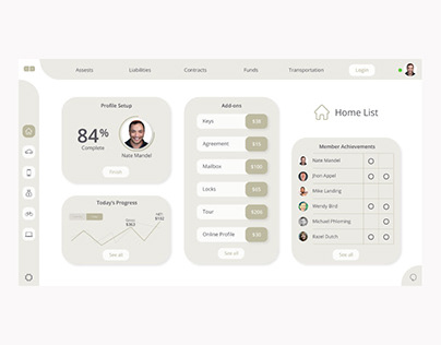 Home & Real Estate UI Dashboard Concept