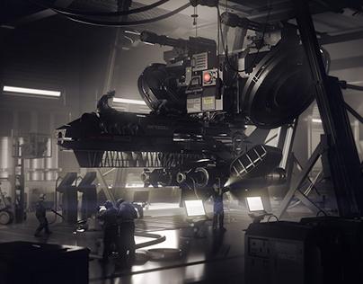 The black hangar