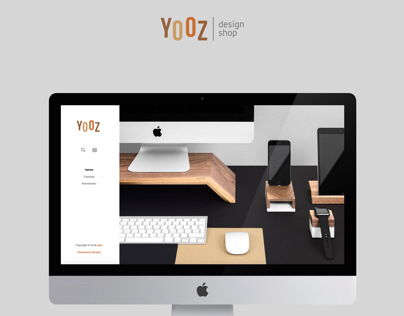UI Design for Yooz Design shop