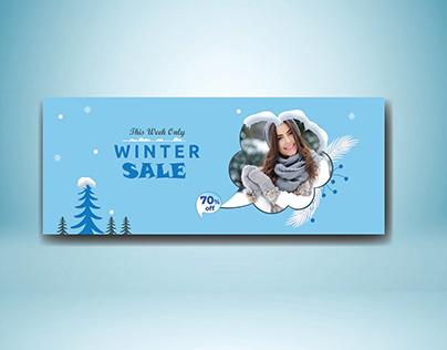 Winter Sale Facebook cover photo