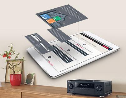 Pioneer Europe responsive website for AVReceivers