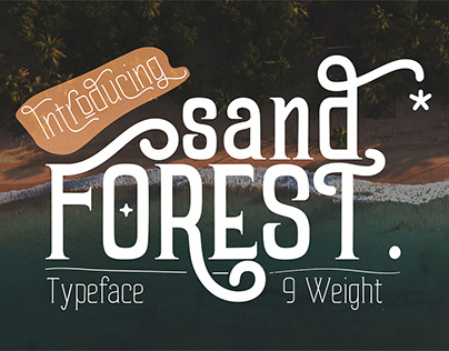 FREE - Sand Forest is a display font