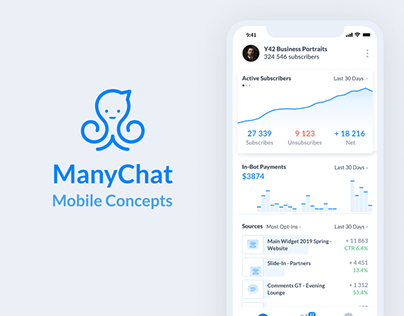 ManyChat Mobile Concept