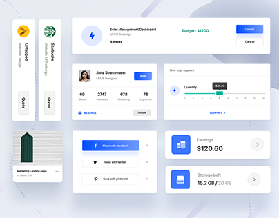 Dashboard Elements Sample