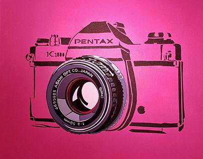 Pentax K1000 1976 + paper