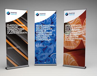 Plastics Capital plc Banner Stand Graphics