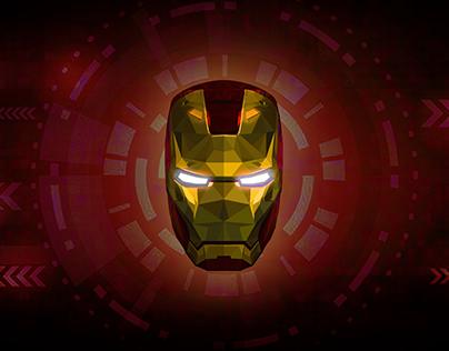 Iron Man | Low Poly Vector Illustration