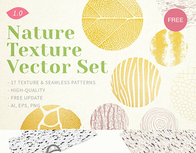 Free Nature Texture Vector Set [ Free Download ]