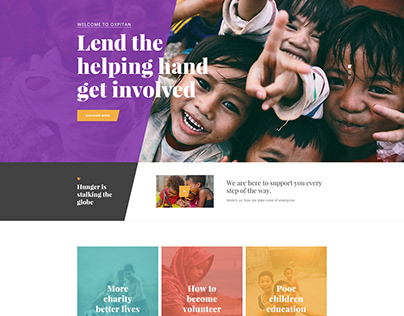 Oxpitan - Nonprofit Charity and Fundraising Template