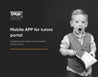 Mobile App for tutors portal