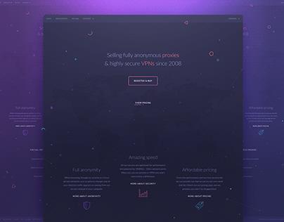 Landing page VPN