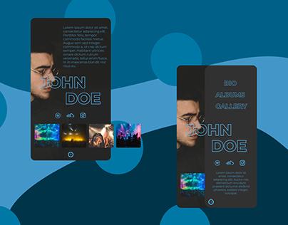 Artist profile UI