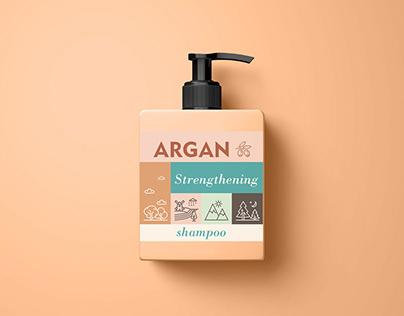 Argan Shampoo - Label Design