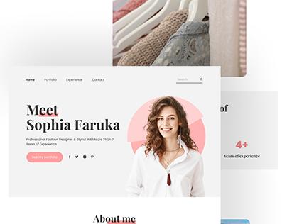 Sophia - Landing Page Fashion Designer Portfolio