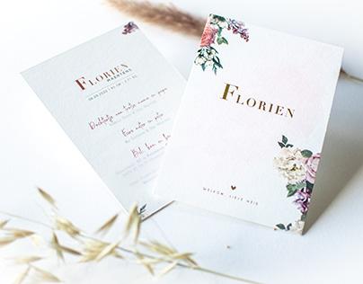 Geboortekaart Florien