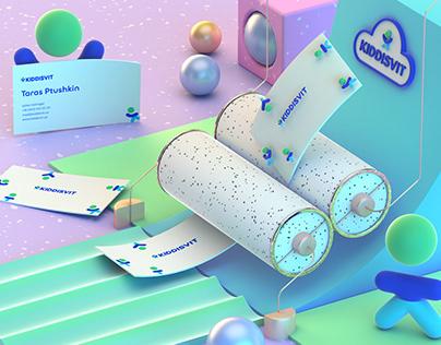 KIDDISVIT 3D brand identity