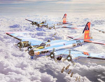Boeing B-17 Flying 3D Modelling & Retouch