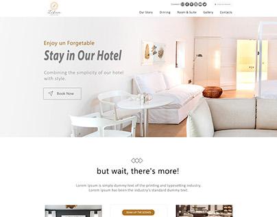 Zifan Website Mockup