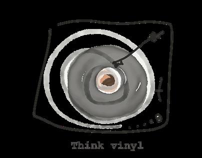 [CAMISETA] Think Vinyl