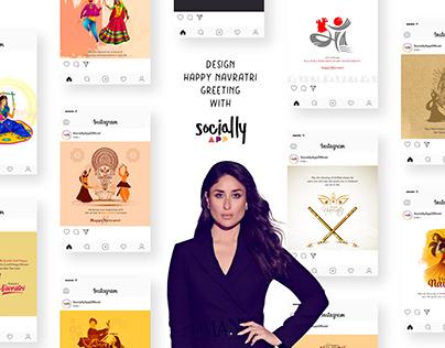 design happy navratri greeting,post & story wish