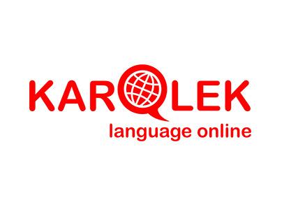 Logo for language school 'KAROLEK'