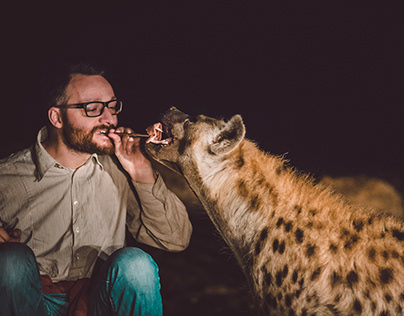 WOULD YOU FEED HYENAS FROM YOUR MOUTH?