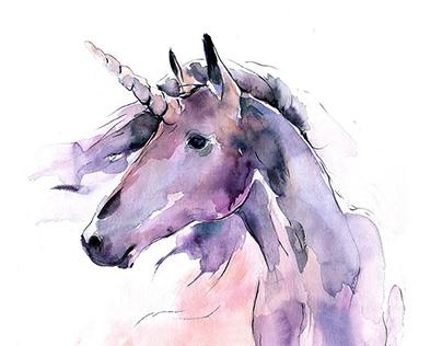 Watercolor Unicorn Design