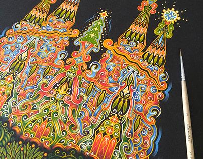 Sagrada Familia | Decorative painting