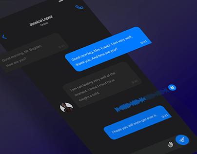 UI/UX design concept for messenger app