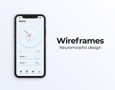 Alarm app neuromorphic design