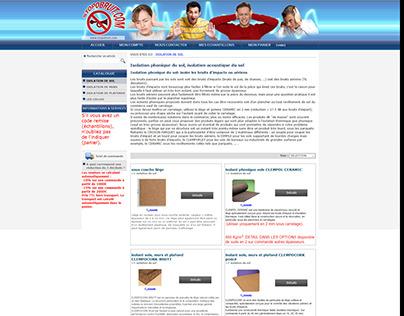 Refonte de la page Isolation phonique plancher